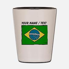 Custom Brazil Flag Shot Glass