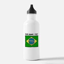 Custom Brazil Flag Water Bottle