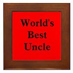 World's Best Uncle! Framed Tile