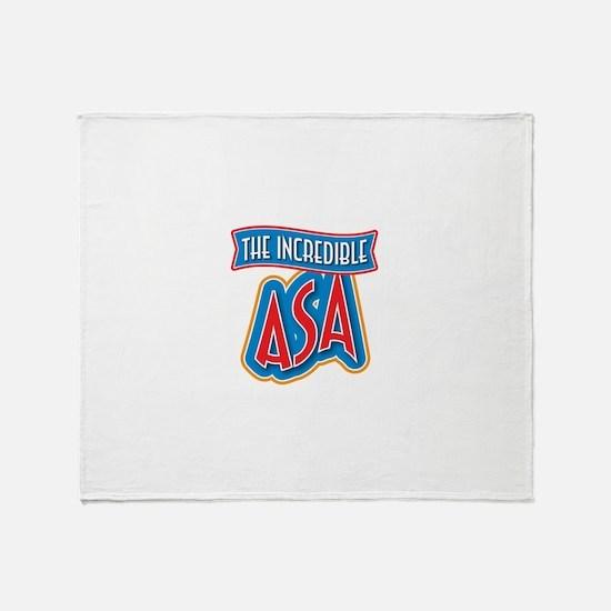 The Incredible Asa Throw Blanket