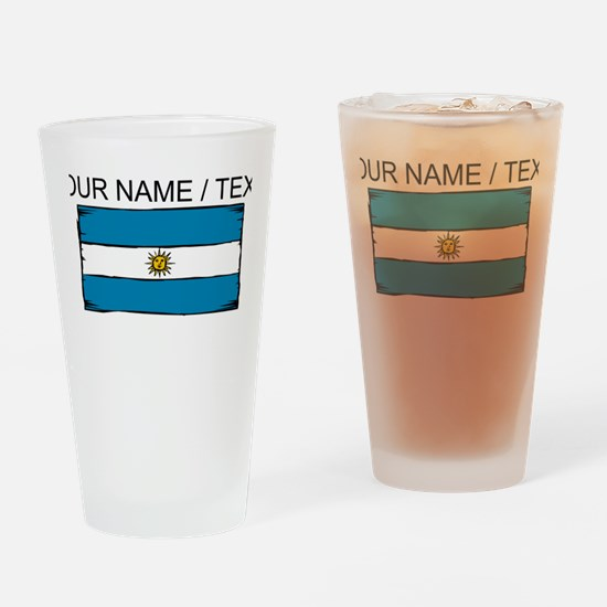 Custom Argentina Flag Drinking Glass