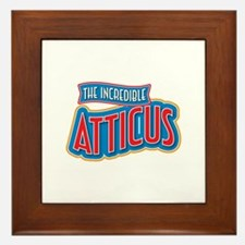 The Incredible Atticus Framed Tile
