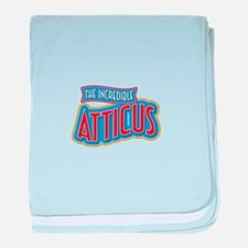 The Incredible Atticus baby blanket