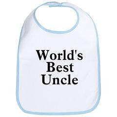 World's Best Uncle! Black Bib
