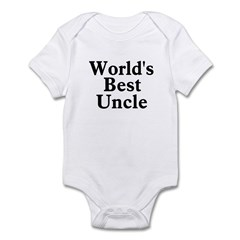 World's Best Uncle! Black Infant Bodysuit