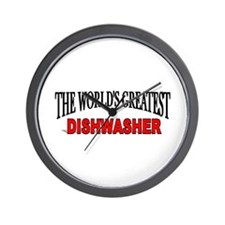 """The World's Greatest Dishwasher"" Wall Clock"