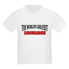 """The World's Greatest Dishwasher"" Kids T-Shirt"
