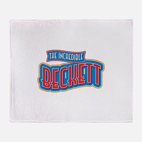 The Incredible Beckett Throw Blanket