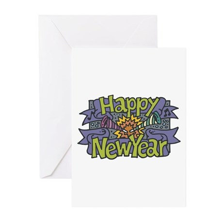 Happy New Year Cheer Design Greeting Cards (Packag