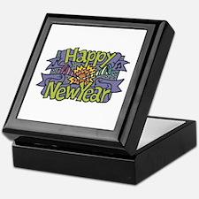 Happy New Year Cheer Design Keepsake Box