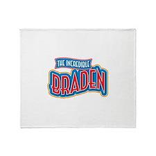The Incredible Braden Throw Blanket