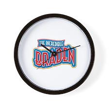 The Incredible Braden Wall Clock