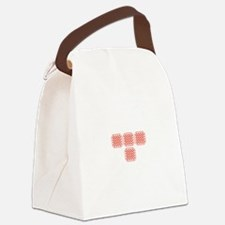 Tron Dots Red1.png Canvas Lunch Bag