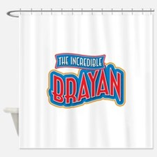 The Incredible Brayan Shower Curtain
