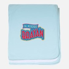 The Incredible Brayan baby blanket