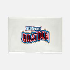 The Incredible Brayden Rectangle Magnet