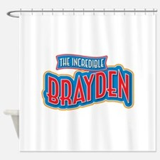 The Incredible Brayden Shower Curtain