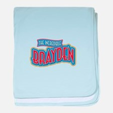 The Incredible Brayden baby blanket