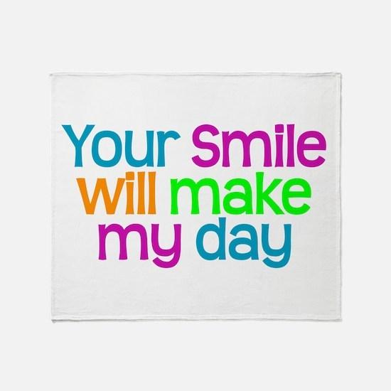 YOUR SMILE - Throw Blanket