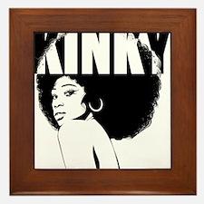 Kinky Hair Afro Framed Tile