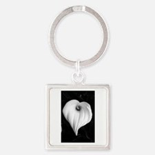 Calla Lily in Black and White Keychains