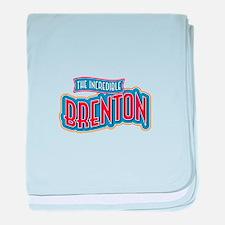 The Incredible Brenton baby blanket