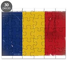 antiqued Romanian flag Puzzle