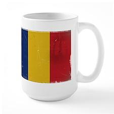 antiqued Romanian flag Mug