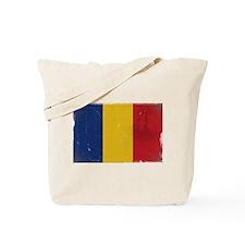 antiqued Romanian flag Tote Bag