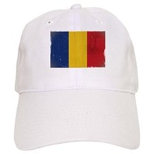 antiqued Romanian flag Baseball Baseball Cap