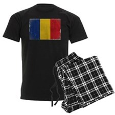 antiqued Romanian flag Pajamas