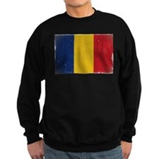 antiqued Romanian flag Sweatshirt