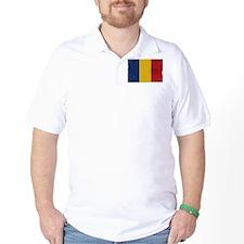 antiqued Romanian flag T-Shirt