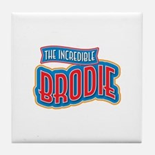 The Incredible Brodie Tile Coaster
