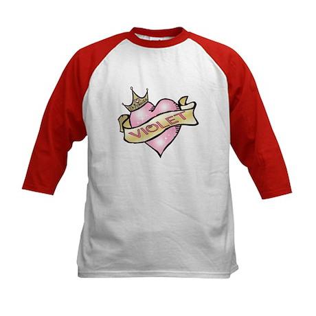 Sweetheart Violet Custom Princess Kids Baseball Je