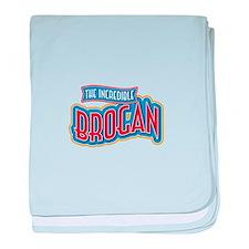 The Incredible Brogan baby blanket