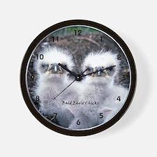 Bald Eagle Chicks Wall Clock