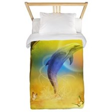 Colorful Dolphin Twin Duvet