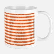 Vintage Orange and White Beach Stripes Mug