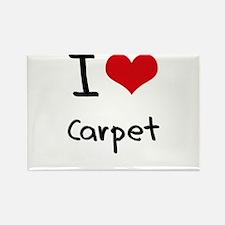 I love Carpet Rectangle Magnet