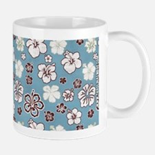 Tropical Hibiscus Carolina Blue Mug