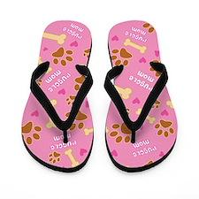 Puggle Mom Gift Flip Flops