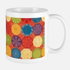 Colorful Beach Umbrellas Summer Orange Mug