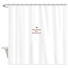 Hate Media Ate My Parents Shower Curtain