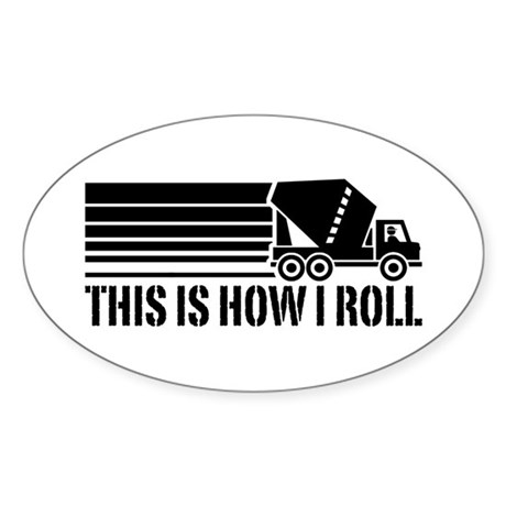 Funny Mixer Driver Sticker (Oval)