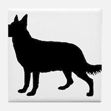 Dog, Perro, Chien, Hund, Cane Tile Coaster