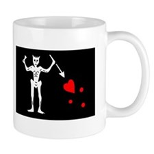 Blackbeard Pirate Flage Edward Teach.png Small Mug