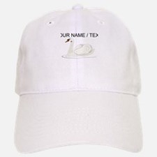 Custom White Swan Baseball Cap
