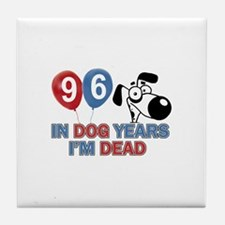 Funny 96 year old designs Tile Coaster
