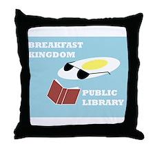 Breakfast Kingdom Public Library Throw Pillow